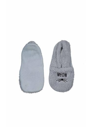 Collezione Collezione Meow Baskılı Buz Si Kadın Patik Çorap Mavi